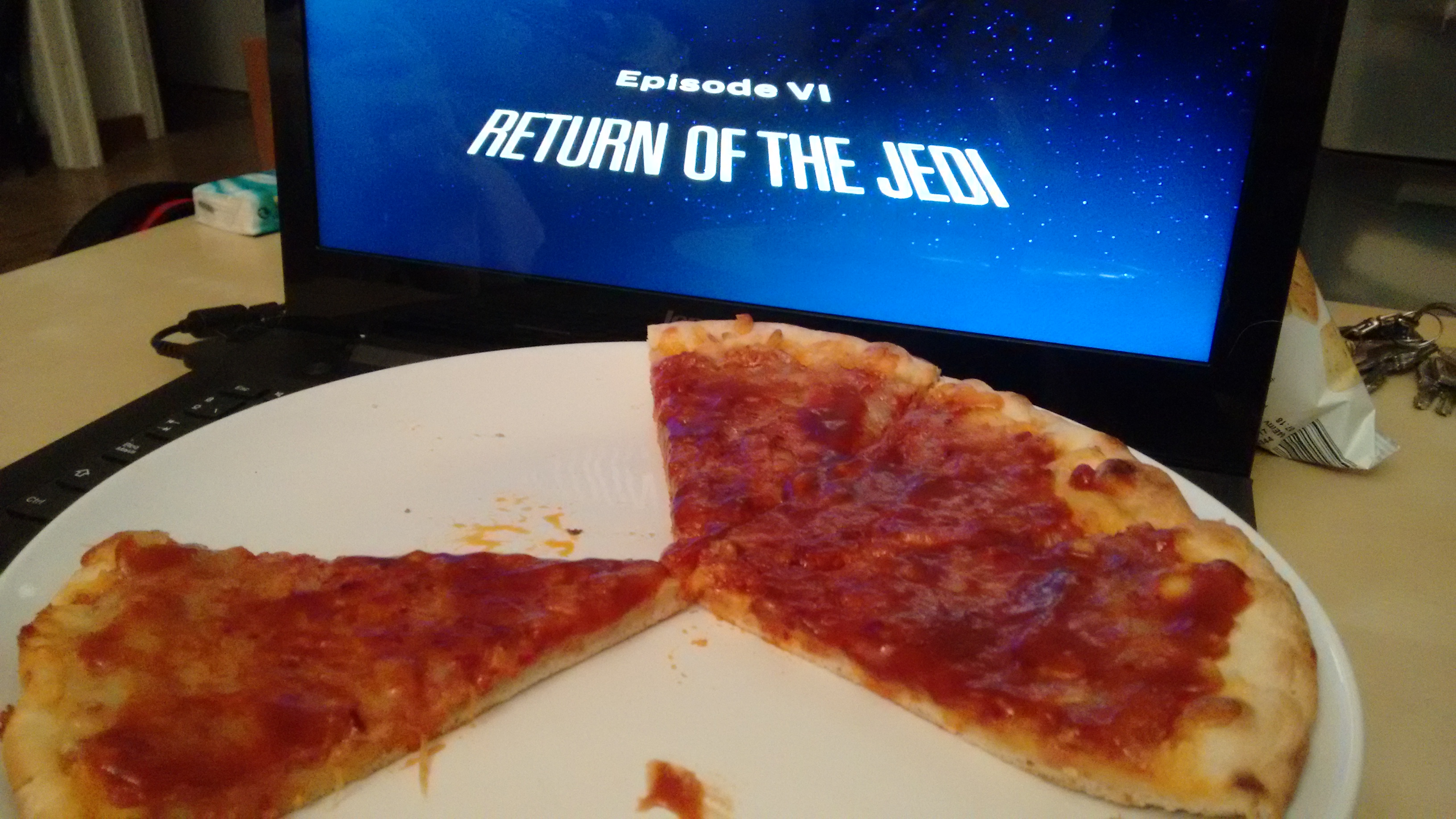 Star Wars + pizza barbacoa