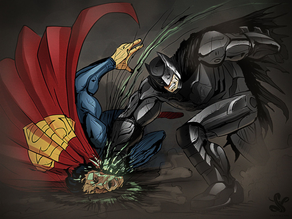 Sólo hay un final esperado, Batman kicked Superman's ass