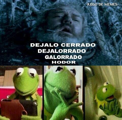 Traducción latina de Hold the door a Hodor