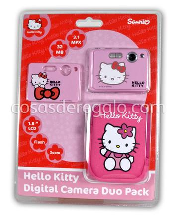 Cámara de foto digital 3MPX con funda y memoria de 32MB Hello Kitty